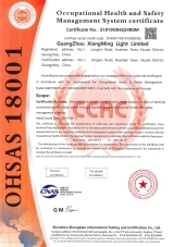ISO18001 certification