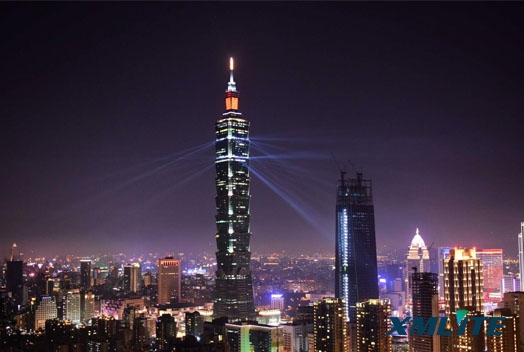 Xmlite 350W beam moving head light brighted in TAIPEI 101 building