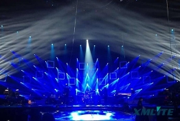 XMLITE Moving head beam light 280W showed in CCTV Music festival